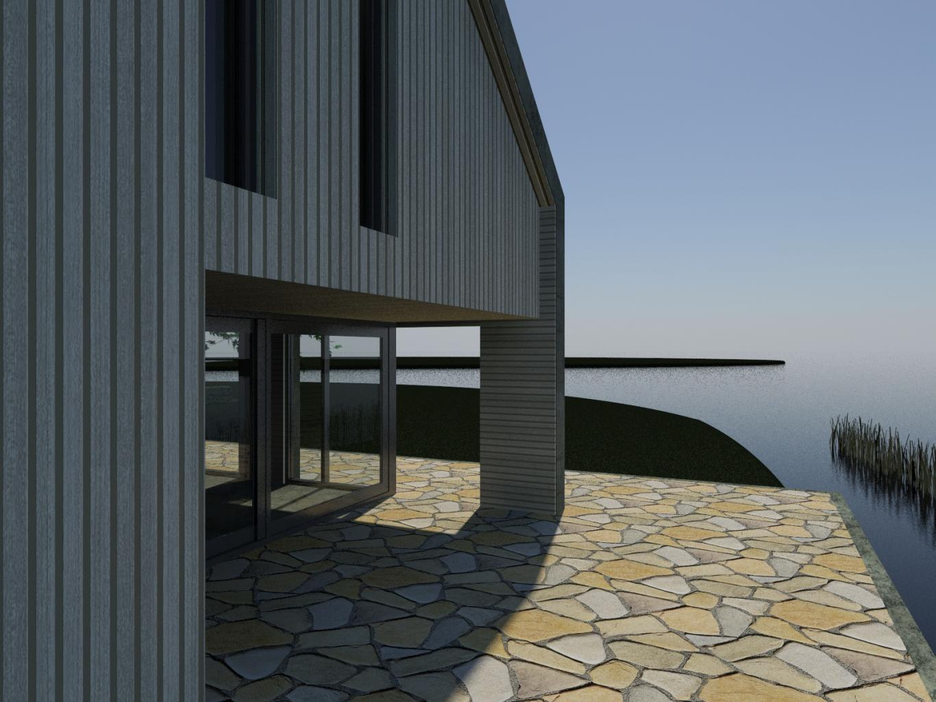 Nieuwbouw Woning Te Warga 3D Uitzicht