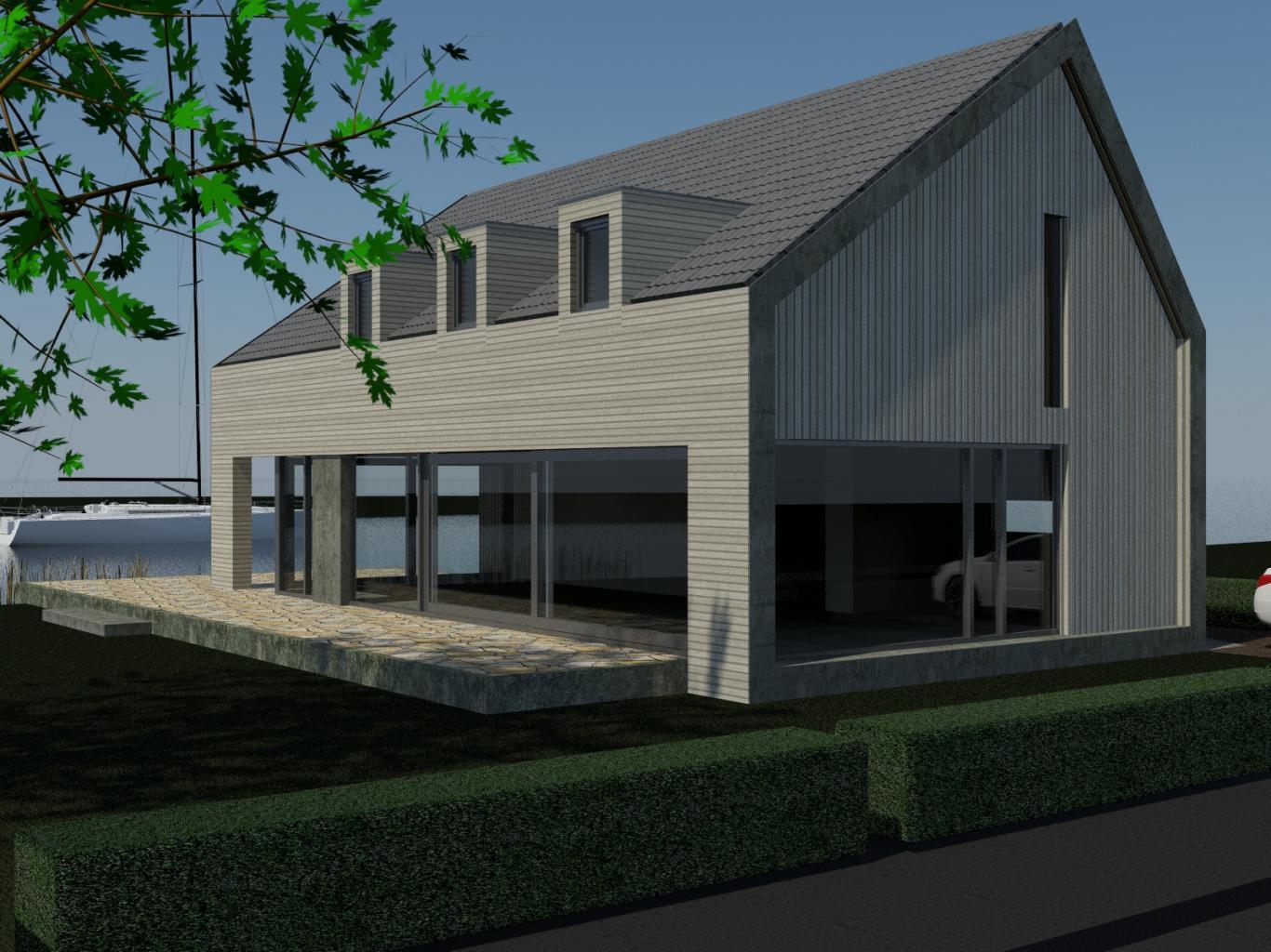 Nieuwbouw Woning Te Warga 3D Voorgevel 2