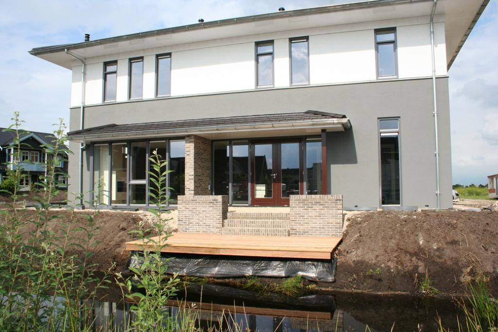 Nieuwbouw Woning Skoatterwâld Heerenveen Terras